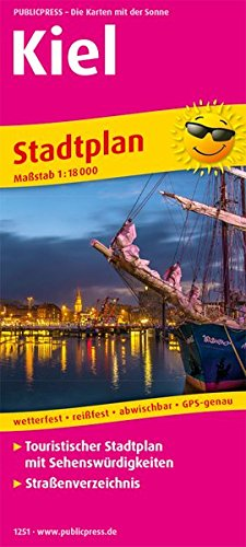 Kiel: Touristischer Stadtplan mit Sehenswürdigkeiten und Straßenverzeichnis. 1:16000 (Stadtplan / SP)