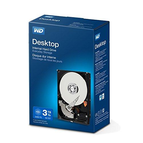 """WD BLUE 3.5"""" Disco Rigido Interno - Classe de 5400RPM, SATA 6 Gb/s, 64 MB Cache, 3 TB"""