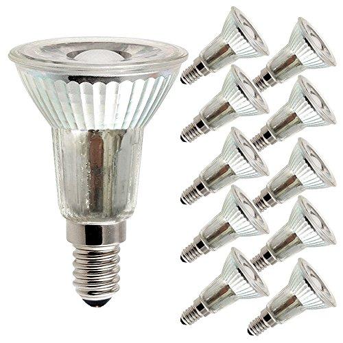 10 x LED Leuchtmittel Glas Reflektor PAR16 5W = 40W E14 420lm JDR warmweiß 2700K Retrofit flood 38° (10 Stück)