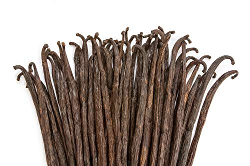 1/4 LB Vanilla Beans  Whole Extract Grade B Pods for Baking Homemade Extract Brewing Coffee Cooking  4 Ounces   Tahitian