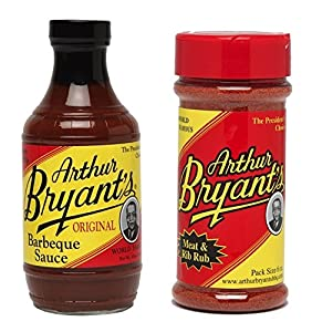 Arthur Bryants Barbeque Sauce / Meat & Rib Rub Combo Pack