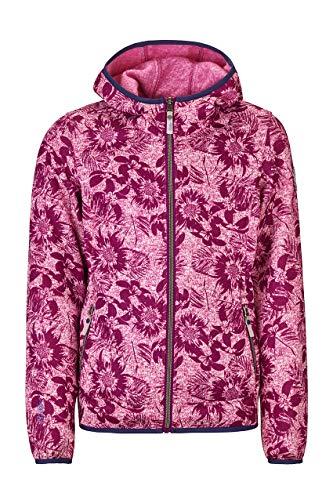 Killtec Edilina Jr Veste Polaire tricotée avec Capuche Fille, Fuchsia, FR : XL (Taille Fabricant : 176)