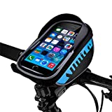 Allnice U Type Design 5.5'' Waterproof Toucscreen Mountain Bike Road Bicycle Cycling Front Frame Bag Tube Pannier Saddle Bag Fit for iPhone 6 Plus/iPhone 6 / Galaxy Note2 / Galaxy S5 and etc (Blue)