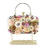 FTSUCQ Womens Floral Vintage Shoulder Handbags Casual Messenger Party Bag Satchels Purse