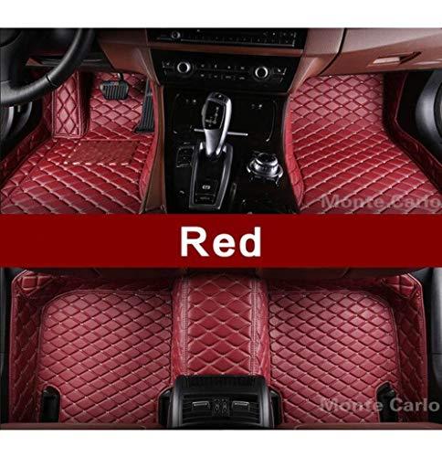 LUOLONG vloermatten voor in de auto, op maat gemaakte vloermatten voor Bmw 4-serie F32 F33 F36 M4 F82 F83 Gran Coupe converteerbare 3D-tapijten voor alle weersomstandigheden vloerbedekking Rood