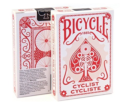 Bicycle Cyclist Red Poker Playing C…