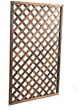 Chihen Valla de Privacidad Valla de Enrejado en Expansión Valla de jardín Elementos Esenciales para Exteriores Kit de Puerta de piquete espaciada Marco de Hoja de Rejilla de Madera Valla de Madera