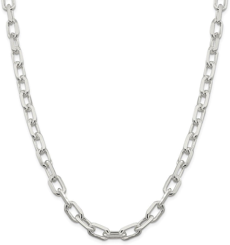 Sterling Silber 9mm Fancy diamantiert Offene Link Kabel Kette Halskette–Lnge Optionen  516166