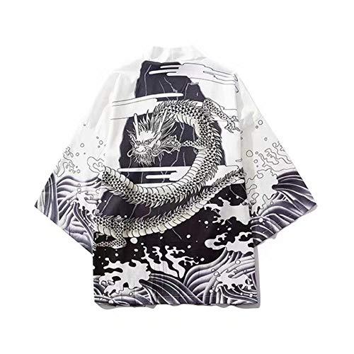 Syfinee Mens Winter Warm Plush Lengthened Shawl Bathrobe Home Shower Clothes Long Robe Coat Hooded Dressing Gown Soft Plush Bath Robe for Men Housecoat Loungewear Bathrobe