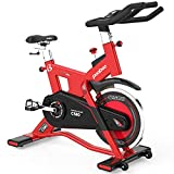 L NOW Indoor Cycling Bike Exercise Bike Stationary Commercial Standard with 40lb Flywheel, Ipad Mount, LCD Display, Soft Cushion, Belt Drive Smooth and Quiet(C580-4)