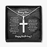 18th Birthday Gift For Him, 18th Birthday Present For Boy, Birthday Gift for 18 Year Old Male, 18th Birthday Young Man, Son 18th Birthday, Gift Jewelry, Necklacewith Message Card and Gift Box