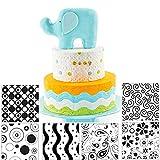 Fyuan Hoja de textura de plástico moderno Fondant Set herramienta de bricolaje para decorar galletas, cupcakes, o crear acentos para pasteles, conjunto de 6
