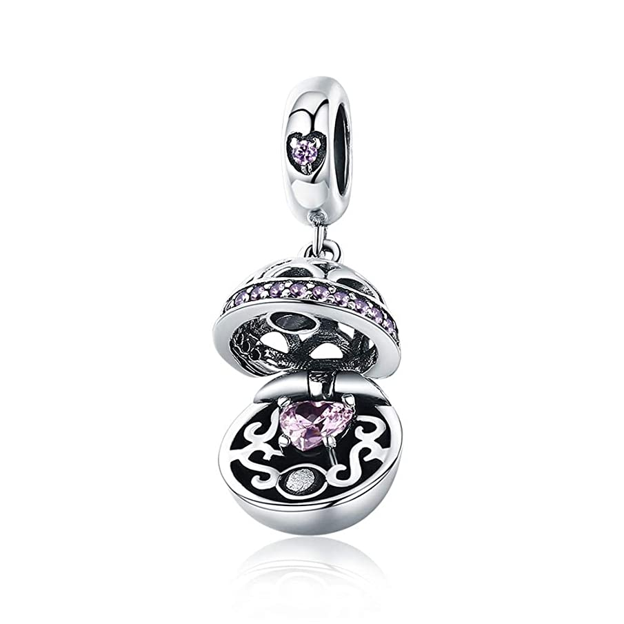 MIADEAL Gift Box Charm, Sterling Silver, Pandora Compatible