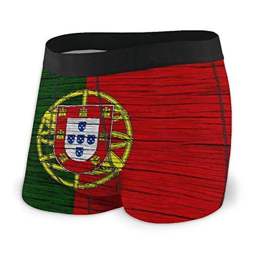 MRRUI Mens Ultra zacht ondergoed Boxer korte overdekte tailleband Portugal kaart Portugese vlag