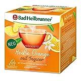 Bad Heilbrunner Heiße Orange mit Ingwer Tee im Pyramidenbeutel, 6er Pack (6 x 15 Pyramidenbeutel)