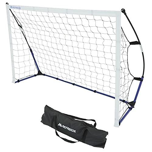 REFREEZE(リフリーズ) ポータブル サッカーゴール 1.8×1.2m 収納バッグ付き サッカー フットサル ミニゲーム 対戦 練習 トレーニング
