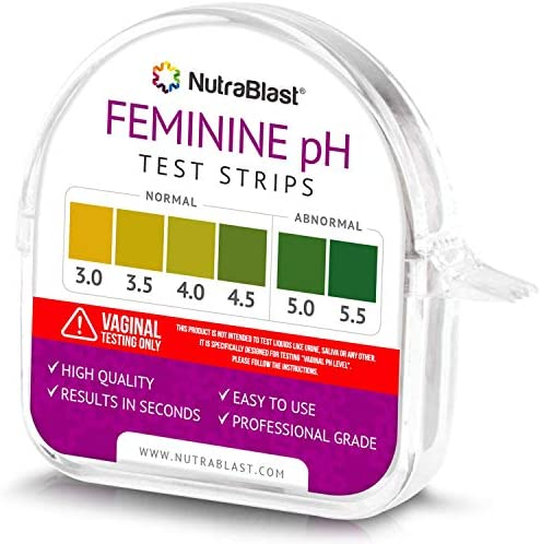 Nutrablast Feminine pH Test Strips 3.0 – 5.5 | Monitor Intimate Health & Prevent Infections | Easy to Use & Accurate Women's Acidity & Alkalinity Balance pH Level Tester Kit (100 Tests Roll)