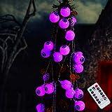 Halloween Cute Eyeball String Lights, 30LED Battery Operated Decorative Lights, Waterproof Twinkle Lights for Halloween, Party, Yard, Decorations (Purple)