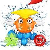 Ucradle Badespielzeug für Babys, Kinder Crab Badewannenspielzeug, frühe Entwicklung Badewanne Dusche Wasserfall Spaß Spiel, Brunnen Wasser Spielzeug mit Wasser Muschel Tasse für Kinder/Jungen/Mädchen
