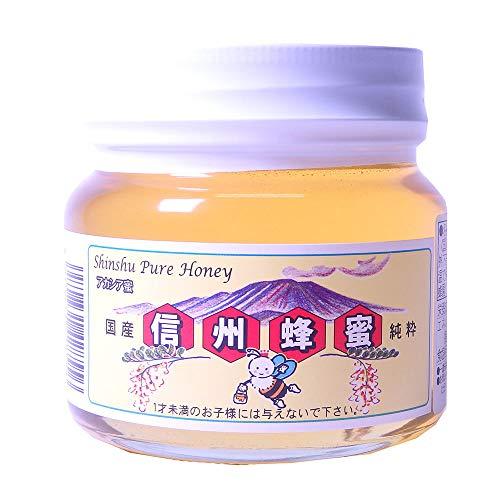 国産アカシアはちみつ 平瓶入り 300g×1瓶 荻原養蜂園 香りやさしく、さっぱりとした味が人気の蜂蜜