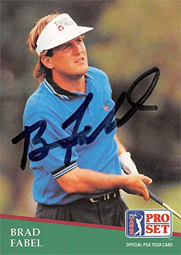 Fantastic Deal! Brad Fabel autographed golf card (PGA Tour, Houston Cougars, SC) 1991 Pro Set #131 -...