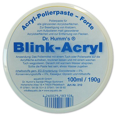 Blink-Acryl zum polieren von Acryloberflächen Dr. Humms Aquatic