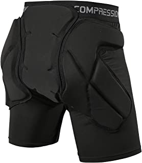 Shinestone Protective Padded Shorts Detachable Padded Protection Shorts Pants Impact Resistance for Hip,Butt and Tailbone,...
