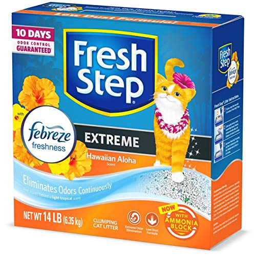 Fresh Step Scented Litter with the Power of Febreze, Clumping Cat Litter - Hawaiian Aloha, 14 Pounds, Model:31686