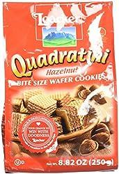 Loacker Quadratini Hazelnut Wafer Cookies, 8.82 Oz