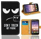 Huawei Y625 Handy Tasche, FoneExpert® Wallet Hülle Flip Cover Hüllen Etui Ledertasche Lederhülle Premium Schutzhülle für Huawei Y625 (Pattern 15)