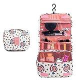 Neceser de viaje portátil multifunción bolsa de maquillaje bolsa de cosméticos - impermeable colgante kit de viaje bolsa de aseo organizador de baño bolsa de transporte