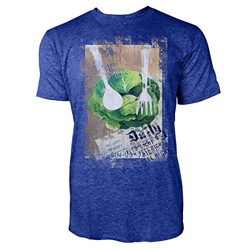 Paul Sinus Art Feed Right – Feel Right heren T-shirts stijlvol blauw cool fun shirt met leuke print