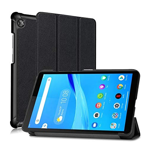 NUPO Hülle für Lenovo Tab M7 TB-7305F (7 Zoll) 2019, Ultra Slim Cover Schutzhülle PU Lederhülle mit Standfunktion,Kompatibel für Lenovo Tab M7 2019 Tablet PC, Schwarz