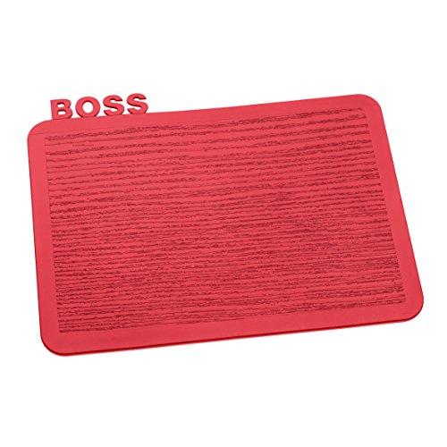 Koziol 3259583 Happy Boards Boss Planche à Découper Plastique Framboise 16,9 x 22,7 x 0,3 cm