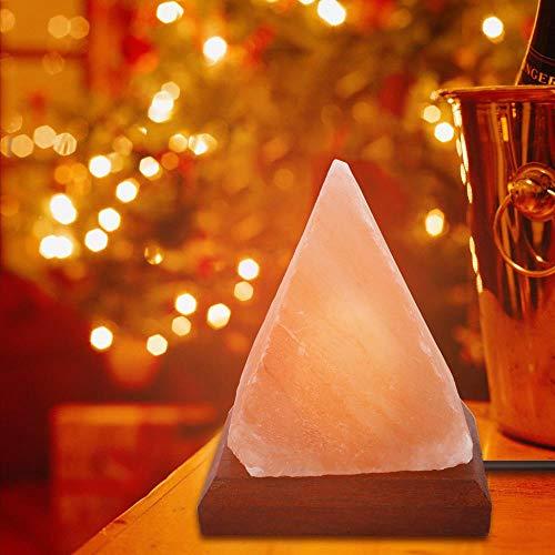 Piramid natuur Himalaya luchtreiniger zoutlamp Ionic bergkristal nachtlampje USB bonte kleur Himalaya-zoutlamp # 0827