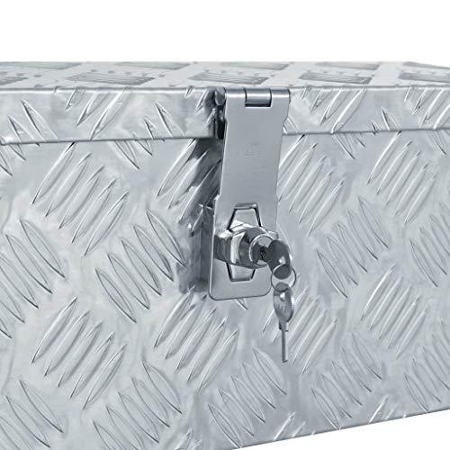 vidaXL Aluminiumkiste Silbern Alubox Aluminiumbox Transportkiste Alukoffer - 5