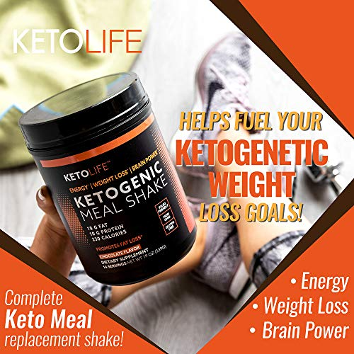 KetoLife 14 Servings Ketogenic Meal Shake, Chocolate Flavor
