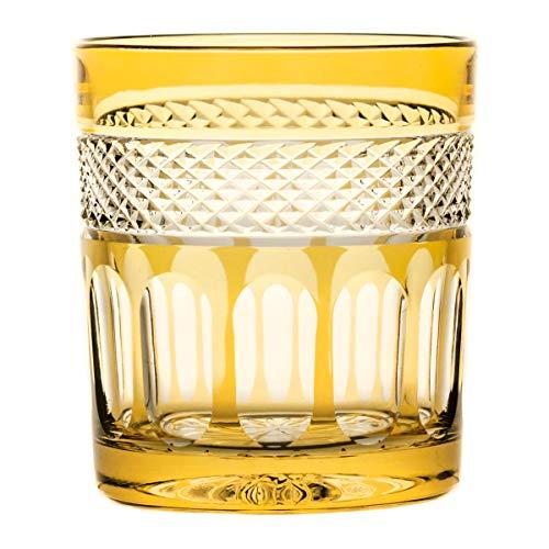 Crystaljulia 16436 Lot de 6 verres à whisky en cristal de plomb Jaune
