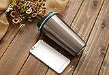 Coffee Cloud Edelstahl Kaffeebecher 500ml | Doppelwandig vakuumisolierter Travel Mug | Thermobecher aus Edelstahl | Isolierbecher BPA Frei, Leicht & Auslaufsicher (Bronze) - 4