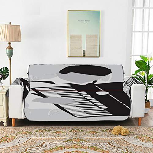 WYYWCY Hermosa Melodía Cojín de acordeón Funda de sofá Sofás Cojín Silla reclinable Funda Antideslizante de 66