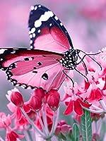 300ピース パズル子供と大人のため ピンクの蝶と花 教育玩具の誕生日プレゼント 大人と子供のため 解圧游戏