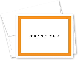 50 Simple Border Thank You Cards (Orange)