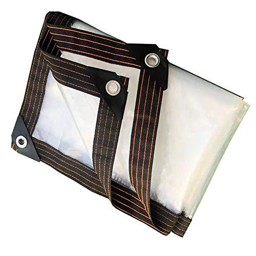 XIAOZHEN Paño De Lluvia Transparente Paño De Plástico Balcón Exterior Espesar Paño De Lluvia Lona(Size:4x4m,Color:Blanco)
