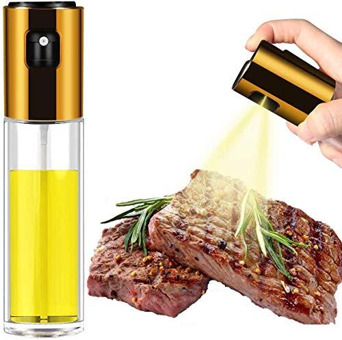 Olive Oil Sprayer for Cooking, 100ml Food-Grade Glass Oil Sprayer for Cooking Air Fryer, Kitchen Olive Oil Sprayer Mister and Oil Spray Bottle for Cooking BBQ Salad Baking Roasting Grilling