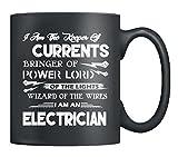 Electrician Ceramic Mug - I Am An Electrician Coffee Mug, Tea Cup 11Oz Black, Best Gifts For Men, Women (Black)