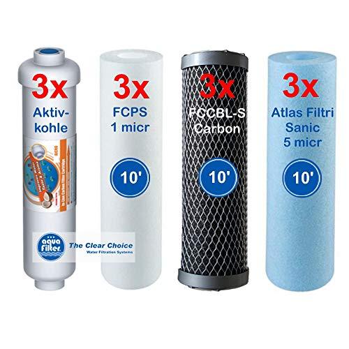 Retec Filterset 1,5 Jahre Ersatzfilter 10' Ultimate Plus PRO Perfect Water No. 1 passend für alle 5 Stufen 10