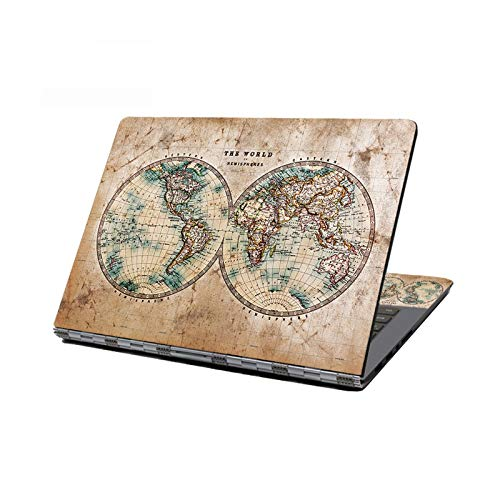 Peach-Girl Case for HP/Acer/AUS/Lenovo Dell 13' 14' 15.6 Laptop World Map Stickers - O-12 Inch