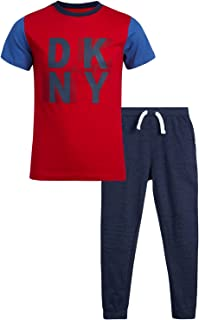 DKNY Baby Boys' Jogger Set - T-Shirt and French Terry Jogger Sweatpants (Little Boy)