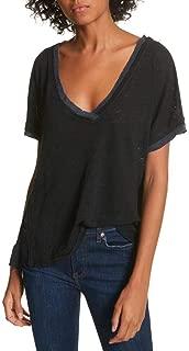 Womens Take Me Linen Striped T-Shirt