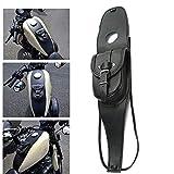 ハーレースポーツスターXL 883 1200用オートバイガスタンクレザーバッグダッシュコンソールセンターポーチブラックバッグレザー